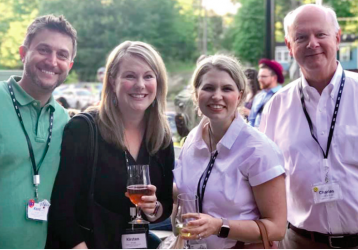 (Left to right) Kent Wyatt and Kirsten Wyatt of ELGL with Julie DeVoe and Chuck Lovelace of the Morehead-Cain Foundation.